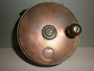 Vintage MALLOCHS 3 1/2 .  SUN And PLANET  Brass Faced Wide Drum Reel. • 39.50£