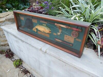 Excellent Fishing Diorama,3d Framed  The Beautiful Game Of Fly Fishing  Man Cave • 25£