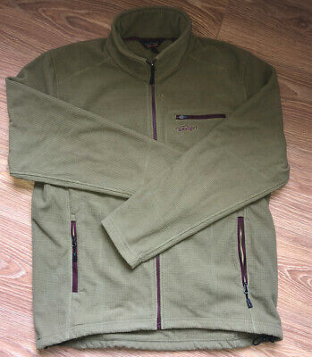 Orvis Mens Fishing Fleece Jacket. Green. Size Large. Excellent Condition • 20.80£