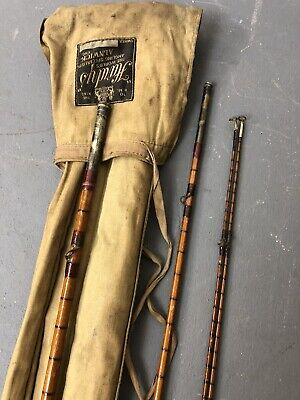 Vintage Hardy Gold Medal Palakona 3 Piece Split Cane Fly Rod With Two Tips & Bag • 185£