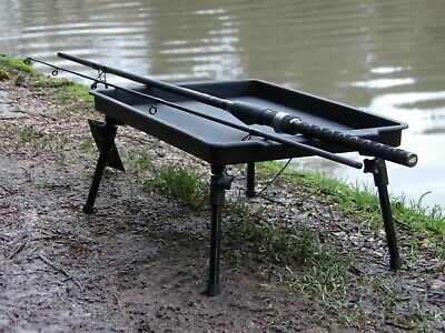 New Large Lightweight Bivvy Table Bait Adjustable Legs Carp Fishing Camping  • 16.95£