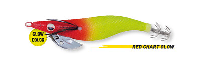 Squid Jig Herakles Abyss - Color Red Chart Glow • 4.23£