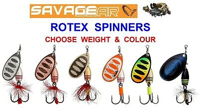 Savage Gear Rotex Spinner Bait Game Coarse Fishing Salmon Trout Pike Lures Mepps • 3.50£