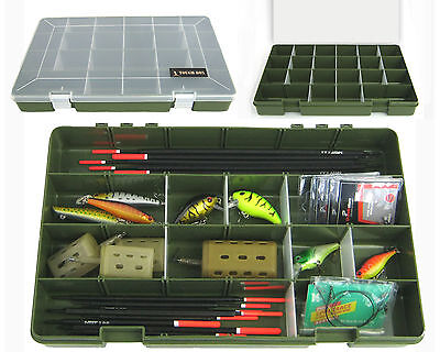 22 Compartment Float Rig Lure Fishing Tackle Box Tray 'tough Box' Adjustable • 10.99£