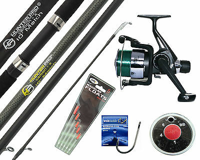Complete Starter Beginners Fishing Kit Float Rod Reel Tackle Set Fishing CARBON! • 27.99£