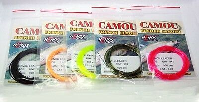 Hends Camou French Leaders | 900cm | Choice Of Colour | Czech Nymph | Euro Nymph • 6.50£