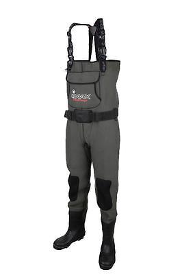IMAX NEW Challenge Neoprene Chest Waders Cleated & Studded Sole - All Sizes  • 99.95£