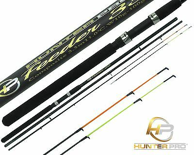 11ft Feeder Rod With Twin Tips & Cloth Bag Ledgering Quiver Tip Rod HUNTER PRO • 21.99£