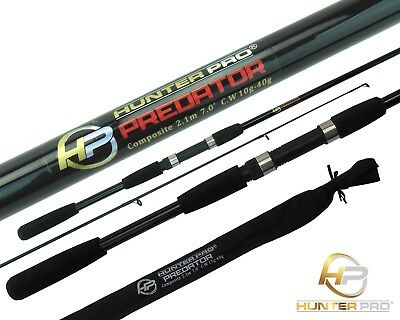 6ft 7ft Pike Spinning Fishing Rod. Composite 2pc  Rod. Bass, Perch, Lure Fishing • 16.99£