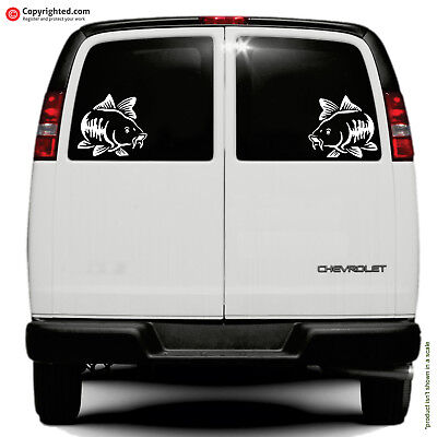 CARP - 2 Stickers Face To Face - Car Van Wall Sticker  • 2.99£