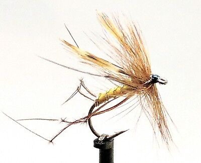 DADDY Long Legs Trout Flies 3 Pack DADDIES Dry Crane Fly Fishing Size 8,10,12 • 2.50£