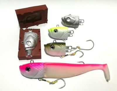 Amazing Large Heavy 8.5 Oz / 240 G Jig Head Mold, Jig Head For Split Belly Lures • 36.40£