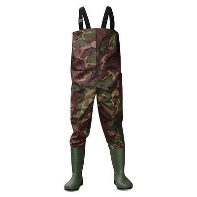 Dirt Boot® Camo Nylon Chest Waders 100% Waterproof Fly Coarse Fishing Muck Wader • 39.99£