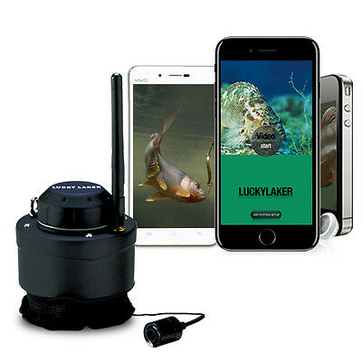 LUCKY FF3309 Wifi Underwater Fishing Camera For 80M Wireless Professional P6 • 99.79£