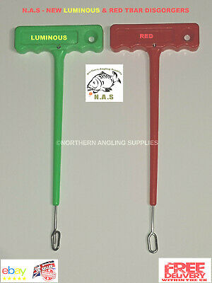 2 X Sea Fishing RED Disgorger Hook Remover T Bar Fish Sea Beach Boat Q Shaped • 5.74£