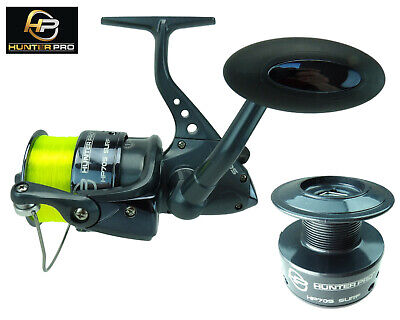 Hunter Pro Hp70s Sea Fishing Reel With Line & Spare Spool Option • 15.99£