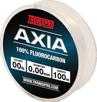 Tronix Pro NEW Axia 100% Fluorocarbon Fishing Line - All Breaking Strains  • 5.99£