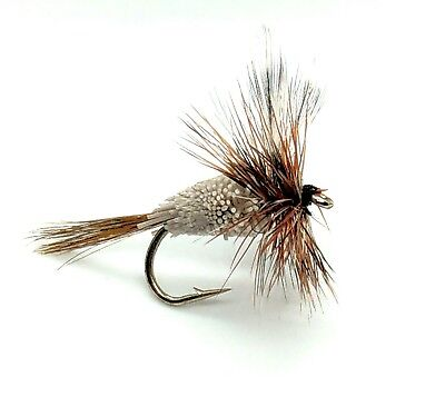 3 ADAMS IRRESISTIBLE Dry Flies MAYFLY Caddis Trout Fly Fishing Size 10,12,14 • 2.50£