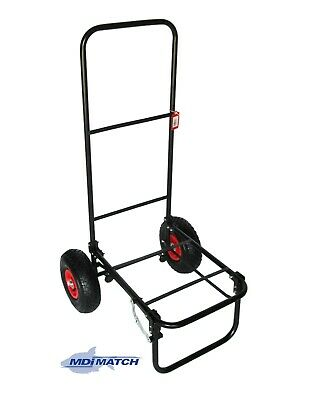 MDI Match Fishing Or Festival Folding Trolley With Pneumatic Wheels • 34.99£