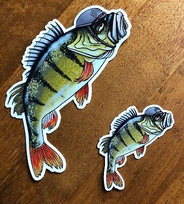 Moody Sergeant Perch Heavy Duty Fishing Angling Stickers Small/Large Available • 2£