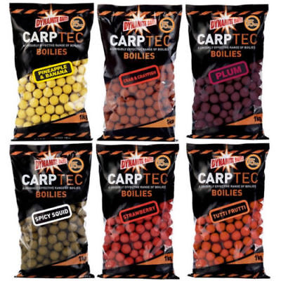 4kg DYNAMITE 15mm SHELFLIFE BOILIES ALL FLAVOURS + FREE POP UPS FOR CARP FISHING • 22.98£