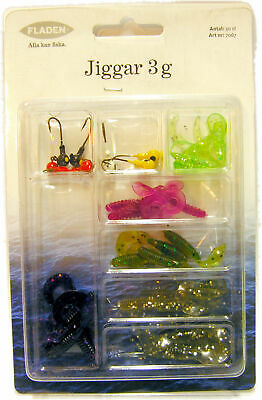 30 Fladen Latex/Jig Heads - 3g Soft Fishing Lures  • 2.99£