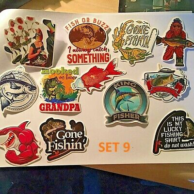 World Fishing Stickers, Various, Sea, Fresh, Fly, World, Angling • 2.55£