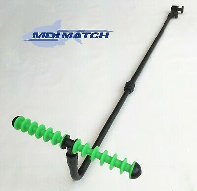 MDI Match Extendable Adjustable Tilt Fishing Feeder-Method Arm Rest & Green Rest • 12.99£