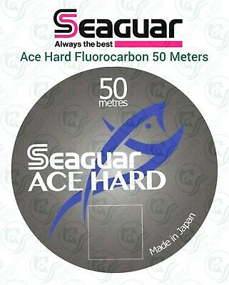 Seaguar ACE HARD Fluorocarbon 50m LEADER Line TIPPET Salmon Trout Fly Fishing • 13.95£