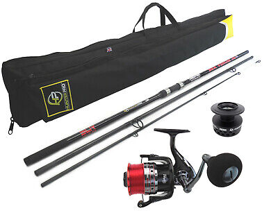 12ft Carbon Surf Beach Caster, Reel And Holdall. High Quality & British Made. • 79.99£