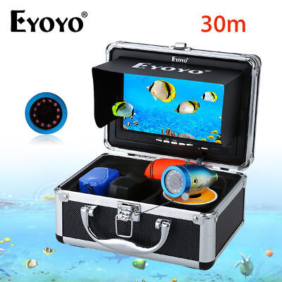 30M 7  12pcs Infrared Led Underwater Fishing Camera Sea Fish Finder + Sunshade • 108.79£