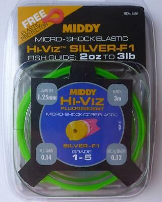 New Middy Shockcore 1-5 Hollow Green Pole Elastic • 12£