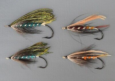 Collection Of  4  Gut  Eyed  Salmon Flies       • 39.99£