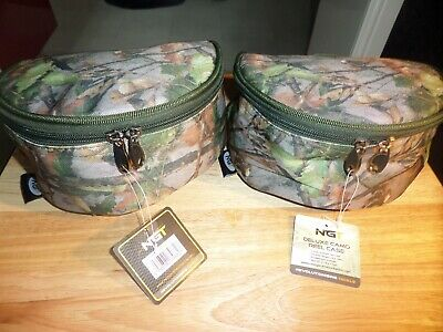 2 X Deluxe Padded Camo Reel Cases • 5.50£