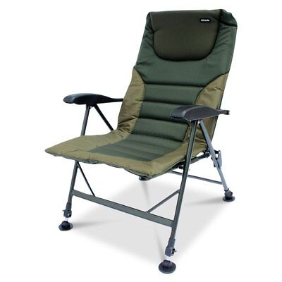 ABODE® Air-Lite™ Alloy Padded Easy-Arm™ Carp Fishing Camping Recliner Chair • 69.99£