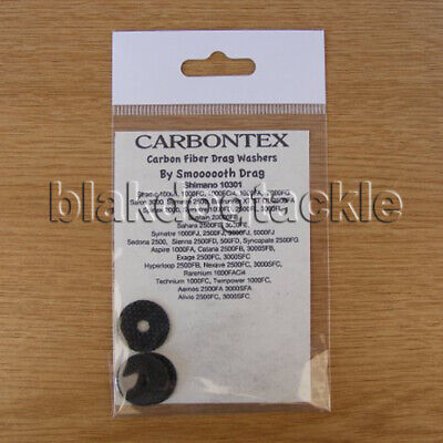 Carbontex Drag Washers To Fit Shimano Spinning Reel - Various Models • 15.99£