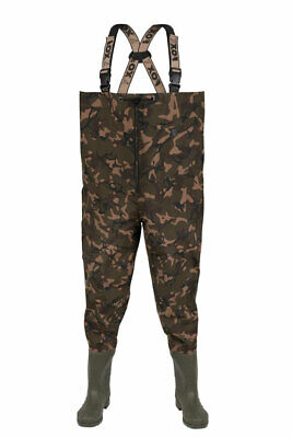 FOX NEW Camo Lightweight Chest Carp Fishing Waders - All Sizes  • 69.99£