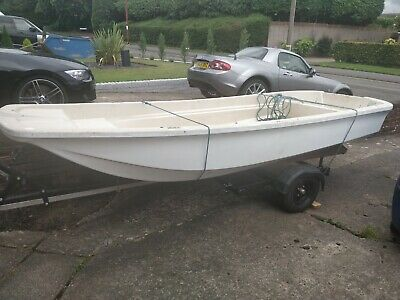 Boat Project - Dory 13 Project Hull, Trailer, Outboard Engine And Fuel Tank. • 2,000£