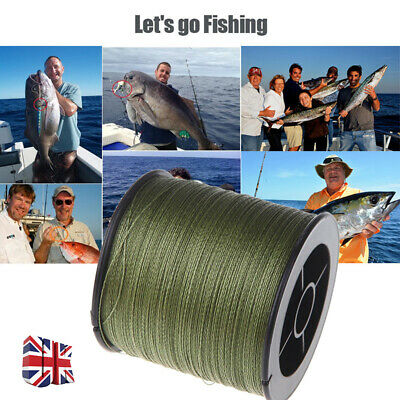 (0,02£/m) 500M 30LB-100LB Strong Spectra Extreme PE Braided Sea Fishing Line Hot • 9.79£