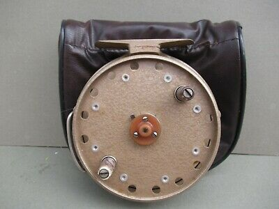 Vintage Grice & Young Gypsy D,Or Centrepin Fishing Reel & Case • 8£