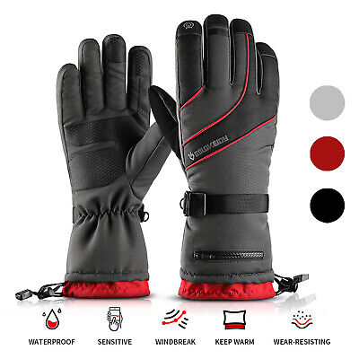 Winter Waterproof -40°F Thermal Warm Gloves Mens Ice Sea Fly Fishing Touchscreen • 8.55£