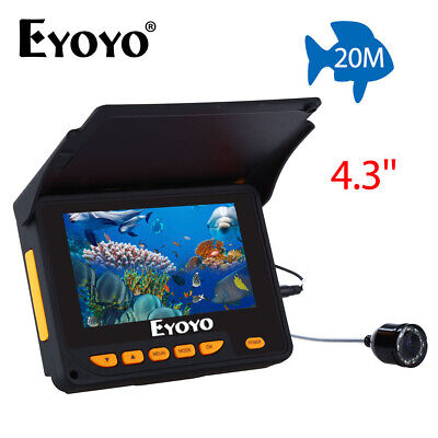Eyoyo 4.3  20M Fish Finder 10 Hours 135 Degree Wide Angle IP68 With Lamp Control • 92.85£