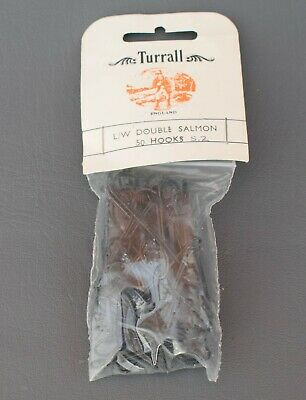 Turrall  Double  L/W  Salmon Hooks    Size 2  -  Qty 50 • 4.99£