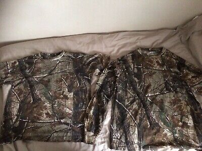 Fishing Rangler Real Tree T Shirts Size Xl  One Long Sleeve One Short Vgc • 4.99£