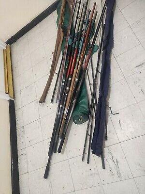 ASSORTED FISHING RODS JOB LOTS,X8 Complete Rods And Mixed Makes And Makers. • 70£