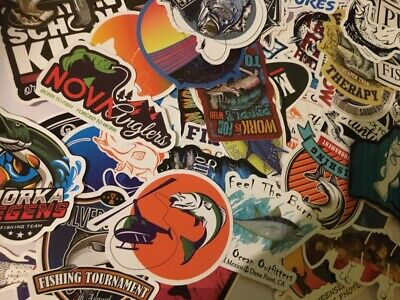 Fishing Stickers, Various, Sea, Fresh, Fly, World, Fishing Stickers, Angling, 1 • 2.55£
