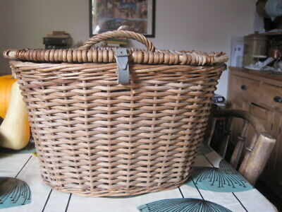 Vintage Fishing Anglers Hunting Wicker Game Bag Basket Creel  • 29.99£