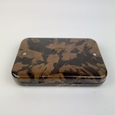 Vintage Hardy Bros Marbled Bakelite Fly Box Case Pocket Sized With Flies • 195£