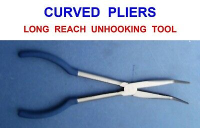 Long Curved Nose Unhooking Pliers Sea Boat Coarse Pike Fishing Hook Removal Tool • 12.90£