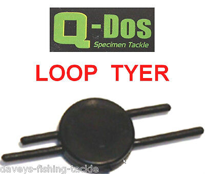 Q-Dos LOOP TYER FOR MATCH FEEDER FLOAT QUIVER POLE CARP FISHING ROD HAIR RIGS • 2.55£